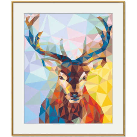 Cerf - Polygon Art
