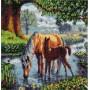 Fell Ponies, 30 x30 cm