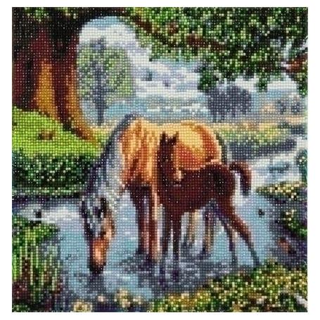 Crystal Art Fell Ponies - 30x30 cm - Full DP