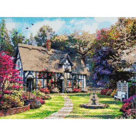 Crystal Art Country Cottage - 40x50 cm - Full DP