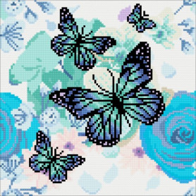 Crystal Art Orchids & Butterflies - 30x30 cm - Full DP