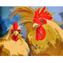 Chickens - Paint by Numbers - 40 x 50 cm