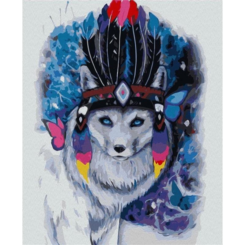 Polar Fox - malen nach zahlen - 50 x 40 cm