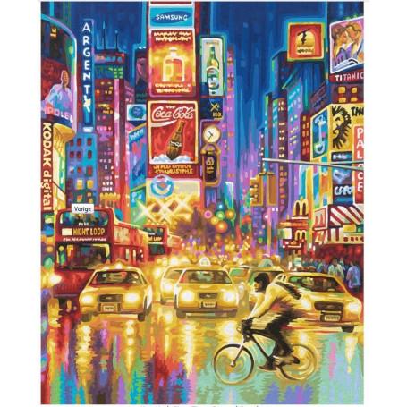 New York City - Times Square bij nacht - Schipper 40 x 50 cm