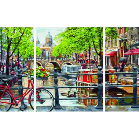 Amsterdam - Schipper Drieluik 50 x 80 cm