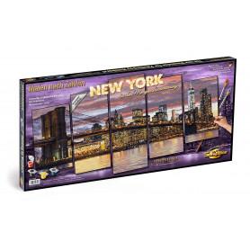 New York in de ochtendschemering - Schipper Vijfluik 72 x 132 cm