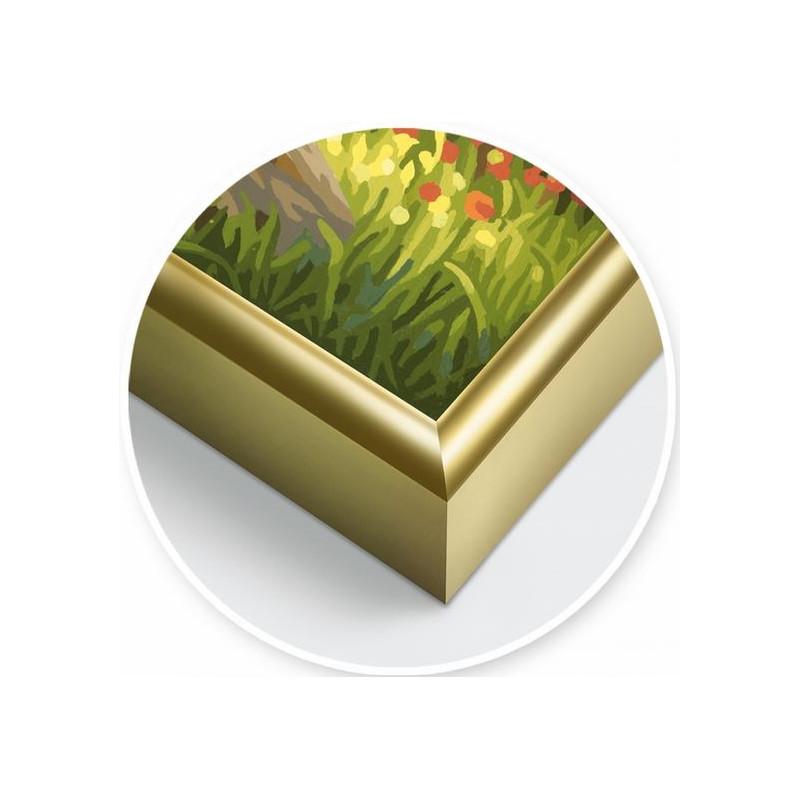2 Goldfarbene Alurahmen 24 x 30 cm