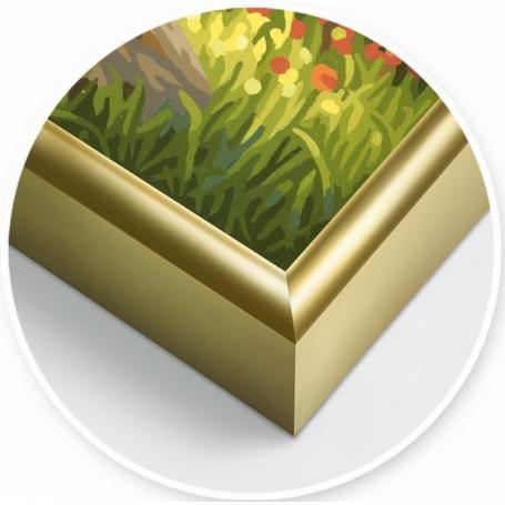 2 Gold aluminium frames 24 x 30 cm