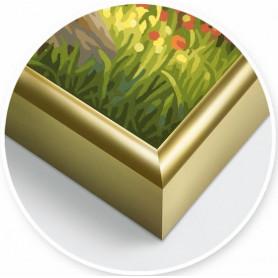 1 Gold aluminium frames 24 x 30 cm