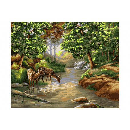 Morning in the Forest Painting by numbers
