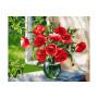 Poppies on the Windowsill Mahlen nach zahlen
