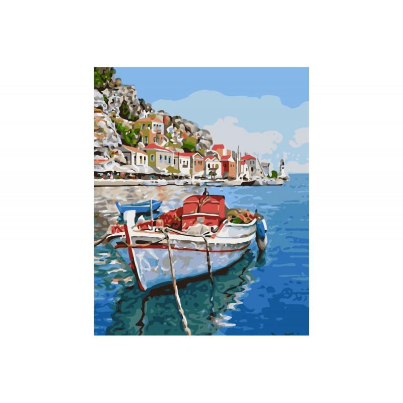 Kit Boat - malen nach zahlen - 40 x 50 cm