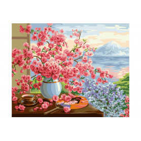 Sakura Bouquet - Paint by Numbers - 40 x 50 cm
