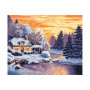 Winter landschap - Schilderen op nummer - 40 x 50 cm
