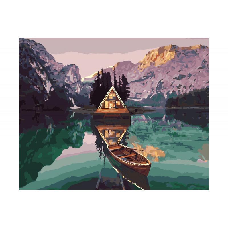 Alpine Chalet - Schilderen op nummer - 40 x 50 cm