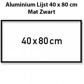 Mat Zwarte aluminium lijst 40x80 cm