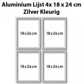 Zilverkl. aluminium lijst Quattro 18x24 cm