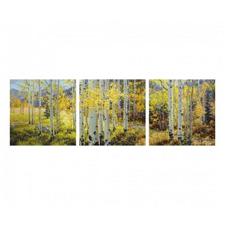 Gouden oktober - Schipper Drieluik 40 x 120 cm