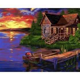 Evening Harbour - Schilderen op nummer - 40 x 50 cm