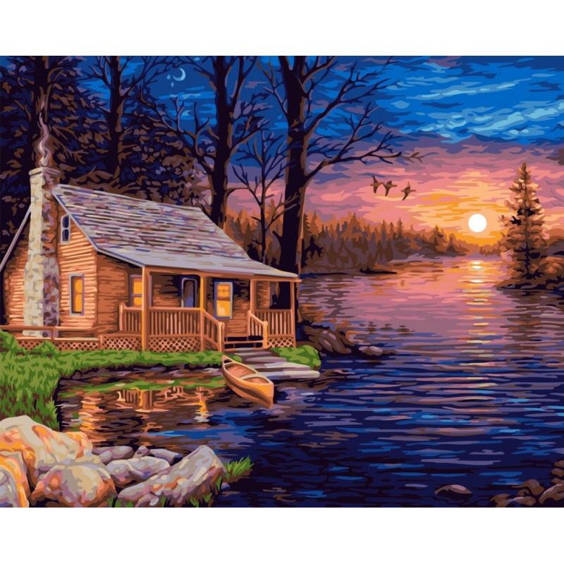 Fisherman's Hut - Schilderen op nummer - 40 x 50 cm