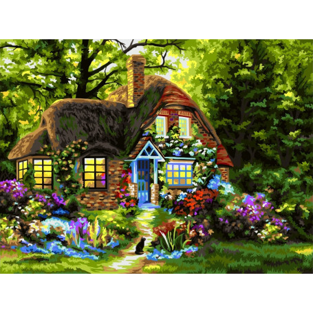 Fairytale House - Schilderen op nummer - 40 x 50 cm