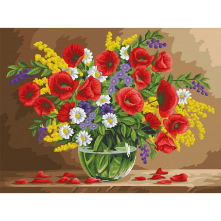 Fragrant Poppies - Paint by Numbers - 40 x 50 cm