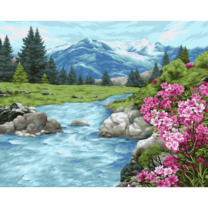 Altai Freshness - Schilderen op nummer - 40 x 50 cm