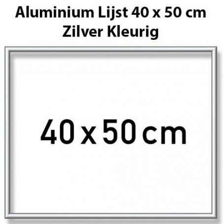Silver Aluminium frame 40 x 50 cm