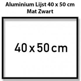 Mat Zwarte Aluminium Lijst 40 x 50 cm