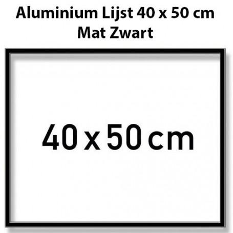 Black Aluminium frame 40 x 50 cm