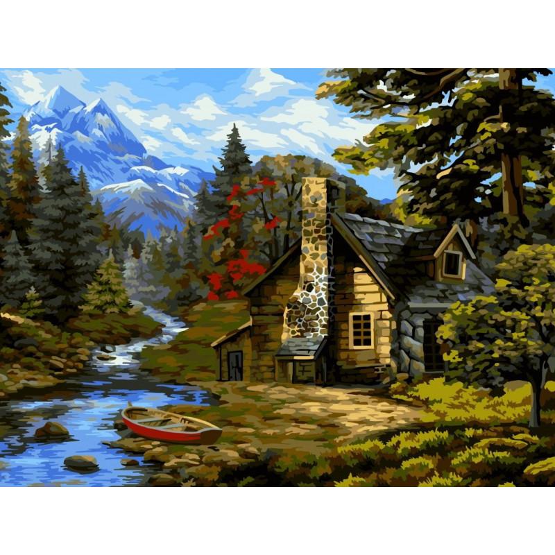 Forest Hut - Schilderen op nummer - 40 x 50 cm
