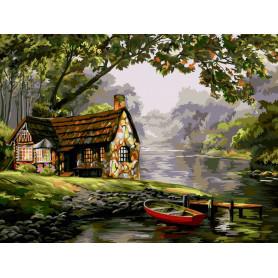 Quiet Waters - Schilderen op nummer - 40 x 50 cm