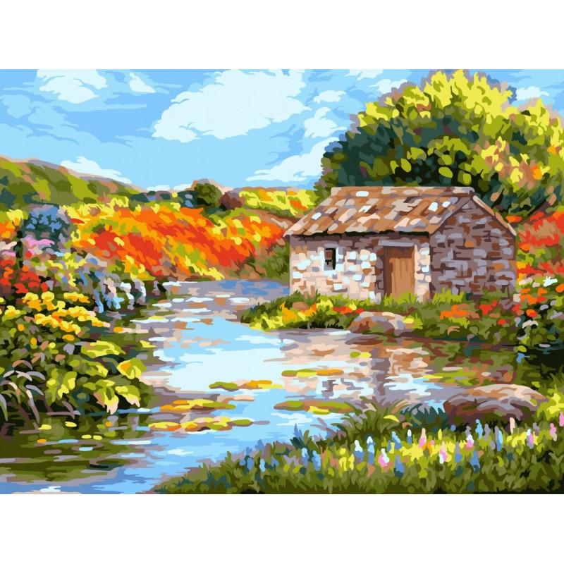 Picturesque River - Schilderen op nummer - 40 x 50 cm