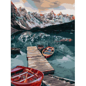 Quiet Lake - Schilderen op nummer - 40 x 50 cm