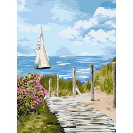 Road to the Sea - Schilderen op nummer - 40 x 50 cm