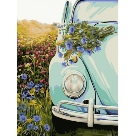 Retro Beetle - Paint by Numbers - 40 x 50 cm