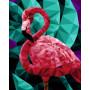 Flamingo (Polygon) - Schilderen op nummer - 40 x 50 cm