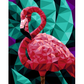 Flamingo (Polygon) - Paint by Numbers - 40 x 50 cm