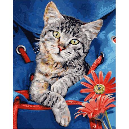 Katze im Rucksack - Schipper 24 x 30 cm