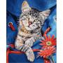 Chat dans un sac à dos - Schipper 24 x 30 cm