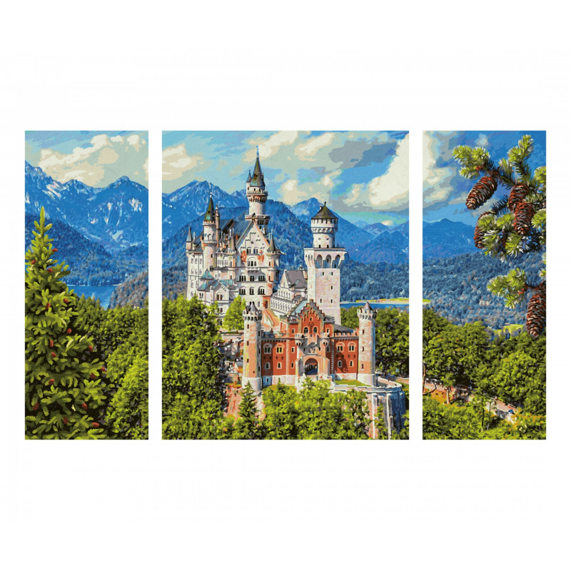 Château de Neuschwanstein - Schipper Triptych 50 x 80 cm