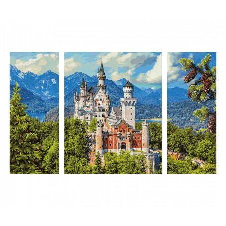 Slot Neuschwanstein - Schipper Drieluik 50 x 80 cm