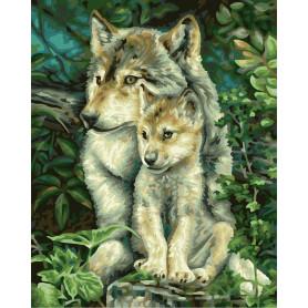Wolf mother - Schipper 24 x 30 cm