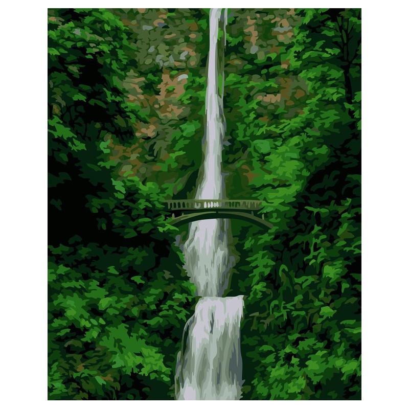 Waterfall - malen nach zahlen - 50 x 40 cm