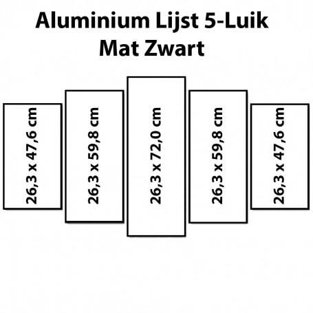 Black Aluminium frame Polyptych 132 x 72 cm