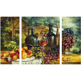 Nature morte avec raisin - Triptyque 50 x 80 cm