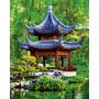 Pagode im japanischen Garten - Schipper 40 x 50 cm