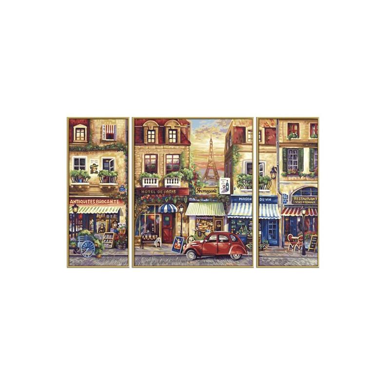 Paris nostalgie - Schipper Drieluik 50 x 80 cm