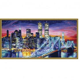 Manhattan bij nacht - Schipper 40 x 80 cm