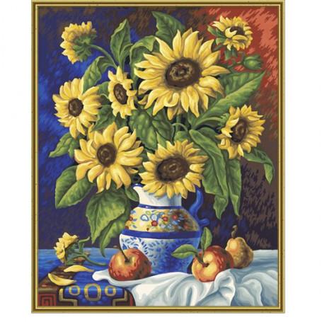 Stilleven met zonnebloemen